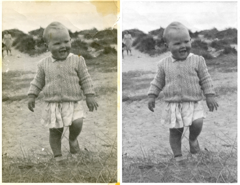 black and white restoration