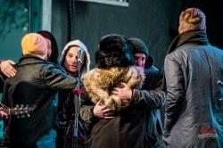 Members of Saint Alvia hugging members of Walk Off The Earth